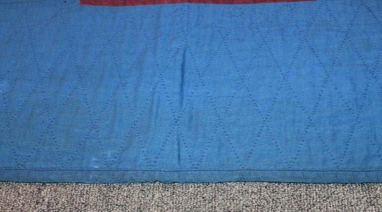 20th Century Amish Lancaster Co. Early Floating Bars Quilt For Sale