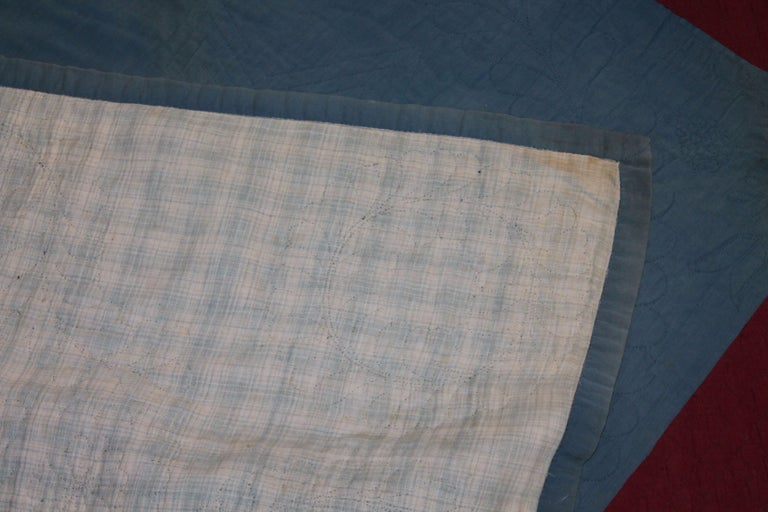 20th Century Amish Lancaster, County Pennsylvania Wool Diamond in a Square Quilt For Sale