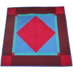 Amish Lancaster Wool Diamond in a Square Crib Quilt