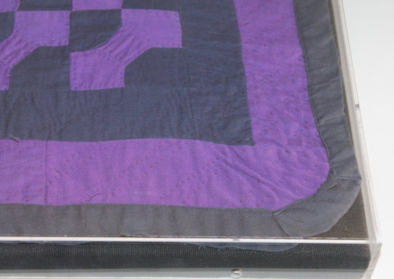 Amish Mounted Doll Quilts in Plexi Glass In Good Condition For Sale In Los Angeles, CA