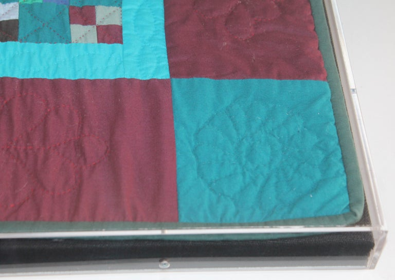 Amish Mounted Doll Quilts in Plexi Glass For Sale 1