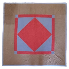 Amish Pennsylvania Wool Diamond in a Square Quilt