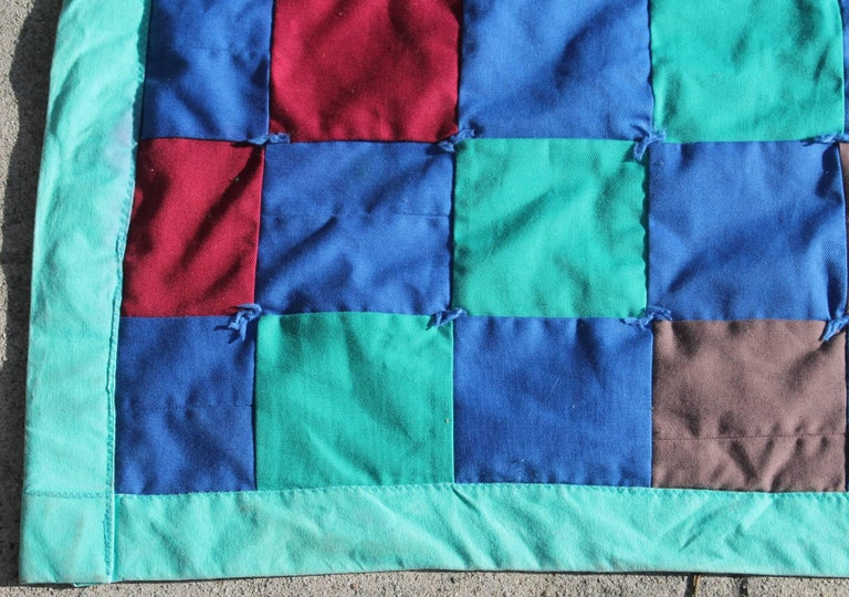 American Amish Quilt from Lancaster County Pennsylvania One Patch For Sale