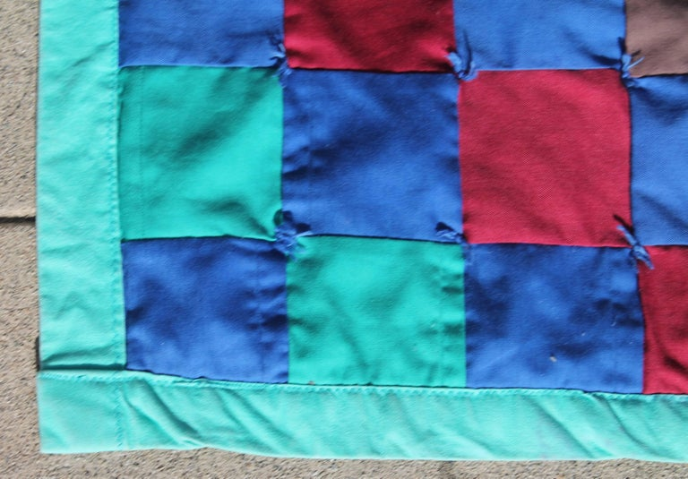 Hand-Crafted Amish Quilt from Lancaster County Pennsylvania One Patch For Sale