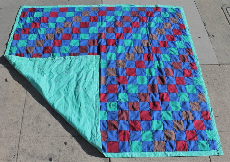 Mid-20th Century Amish Quilt from Lancaster County Pennsylvania One Patch For Sale