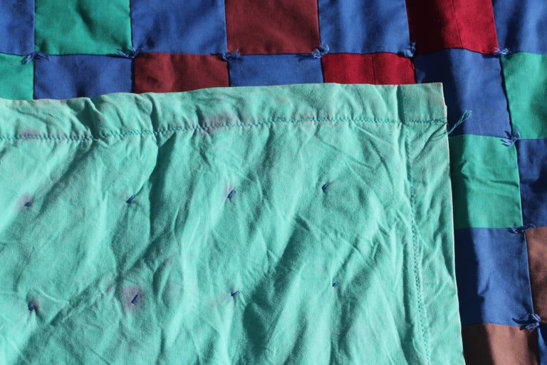 Cotton Amish Quilt from Lancaster County Pennsylvania One Patch For Sale