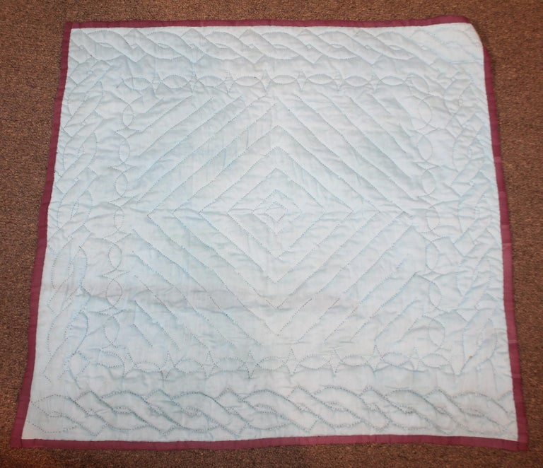 20th Century Amish Sunshine and Shadow Crib Quilt For Sale