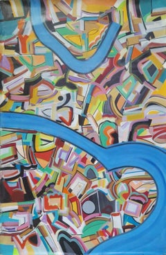 "Abstract Painting, Acrylic on Canvas by Contemporary Artist ""In Stock"""