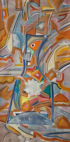 """Pratyabhigyan-2, Acrylic on Canvas by Contemporary Indian Artist """"In Stock"""""""