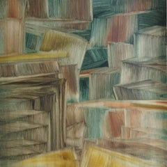 """Vipasyana Series, Mixed Media on Paper by Contemporary Indian Artist """"In Stock"""""""