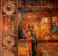 """Inconsistent Dialogue, Mythscape Series, Abstract, Oil Painting  """"In Stock"""""""