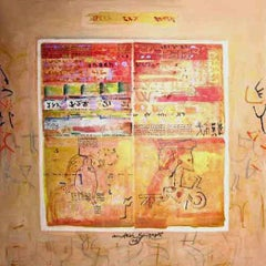 "Inscription Series II, Mixed Media on Canvas, Indian Artist""In Stock"""