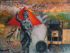 """Non Places 1, Mythscape Series,Heritage, Acrylic on Canvas, Indian Art""""In Stock"""""""