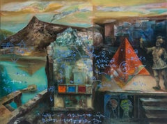 """Non Places 2, Mythscape Series, Indian Heritage, Acrylic on Canvas """"In Stock"""""""
