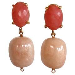 Amle Rose Quartz Pierced Earrings