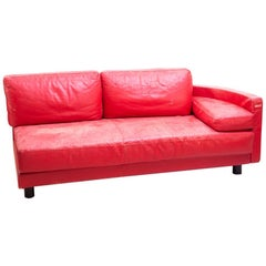 Ammannati & Vitelli i4 Mariani Italian Red Leather Molto+Di Sectional Loveseat