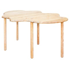 Amoeba-Shaped Modernist Dining Table in Cerused White Oak by Arcana