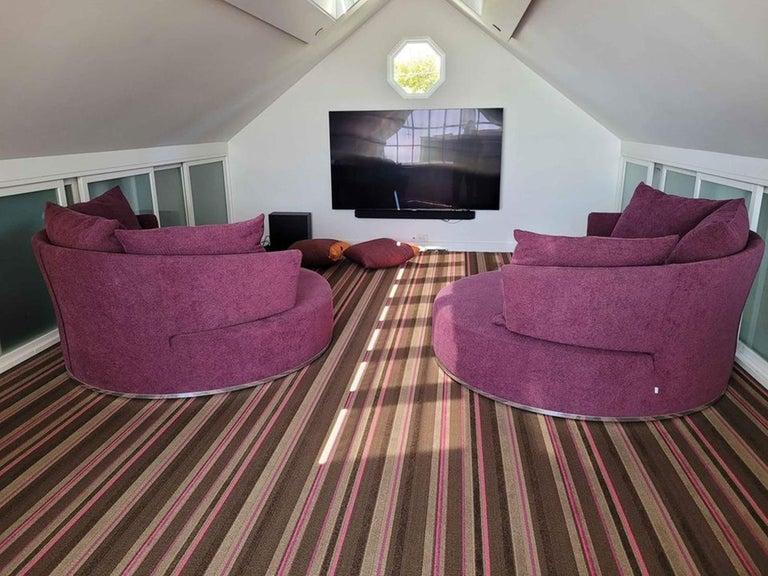 Modern Amoenus Circular/Swivel Sofa by Antonio Citterio for B&B Italia, 2 Available For Sale