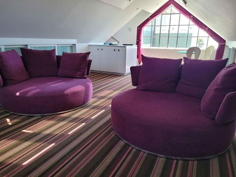 Italian Amoenus Circular/Swivel Sofa by Antonio Citterio for B&B Italia, 2 Available For Sale