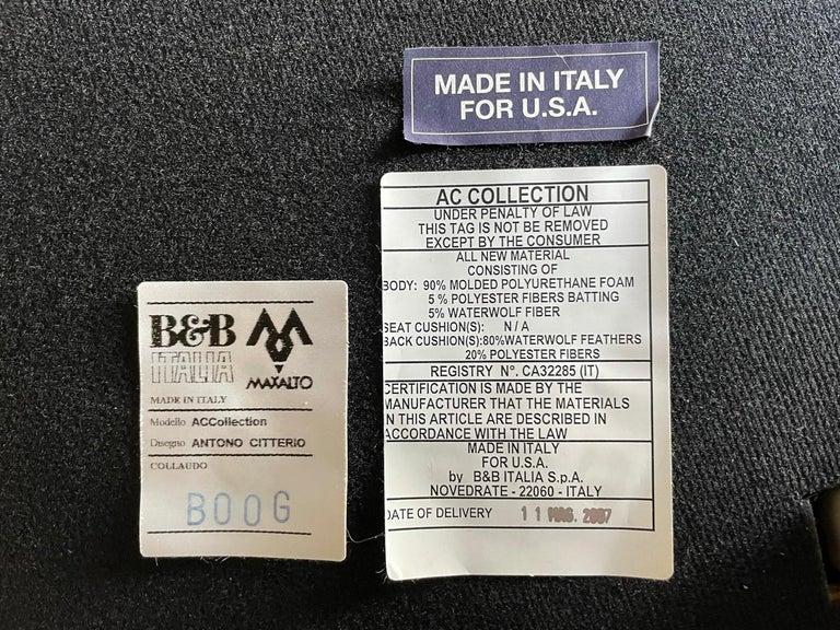 Metal Amoenus Circular/Swivel Sofa by Antonio Citterio for B&B Italia, 2 Available For Sale