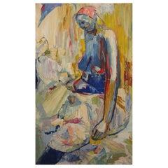 Amon Kotei Ghanaian Artist a Number of Women Oil on Canvas