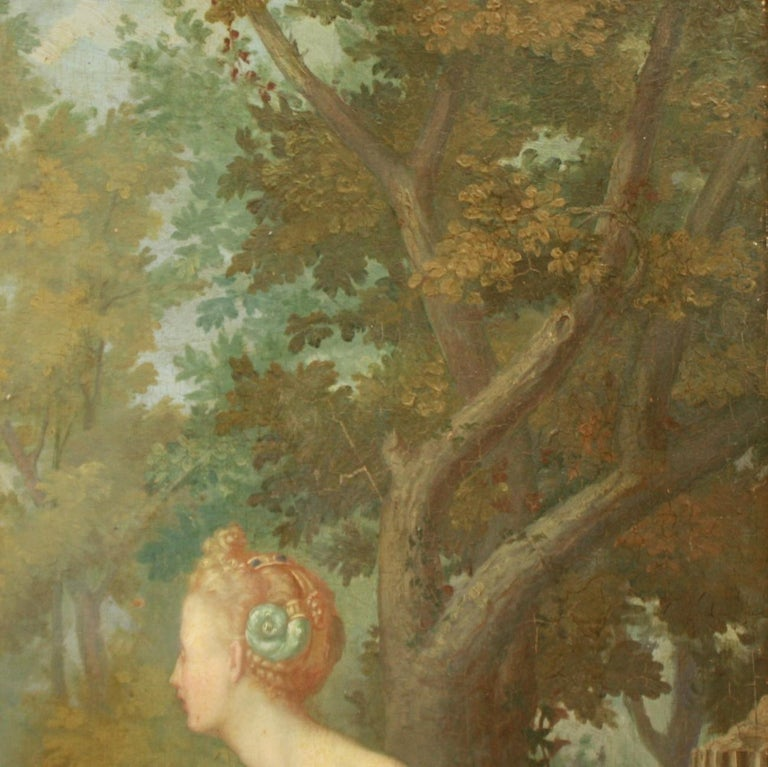French Amor Vincit Omnia, Oil on panel, Follower School of Fontainebleau For Sale