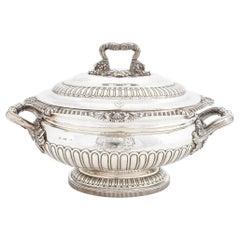 Amoral Sterling Silver Tureen, London, circa 1817
