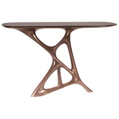 Amorph Anika Console, Bronze Finish with Black Marble