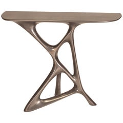 Amorph Anika Console, Stainless Steel Finish