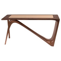 Amorph Astra Desk, Graphite Walnut with Top leather