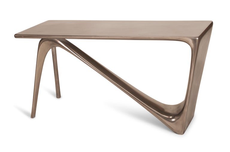 American Amorph Astra Desk, Nickel Finish For Sale