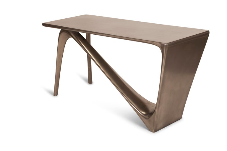 Amorph Astra Desk, Nickel Finish In New Condition For Sale In Gardena, CA