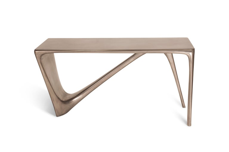 Contemporary Amorph Astra Desk, Nickel Finish For Sale