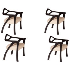 Amorph Darcey Dining Chair, Set of 4, Ebony Stained