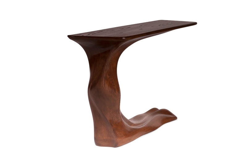 Modern Amorph Frolic Console Table, Wall Mount, Walnut Stained, by Amorph For Sale