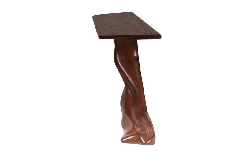 Contemporary Amorph Frolic Console Table, Wall Mount, Walnut Stained, by Amorph For Sale