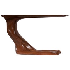 Amorph Frolic Console Table, Wall Mount, Walnut Stained, by Amorph