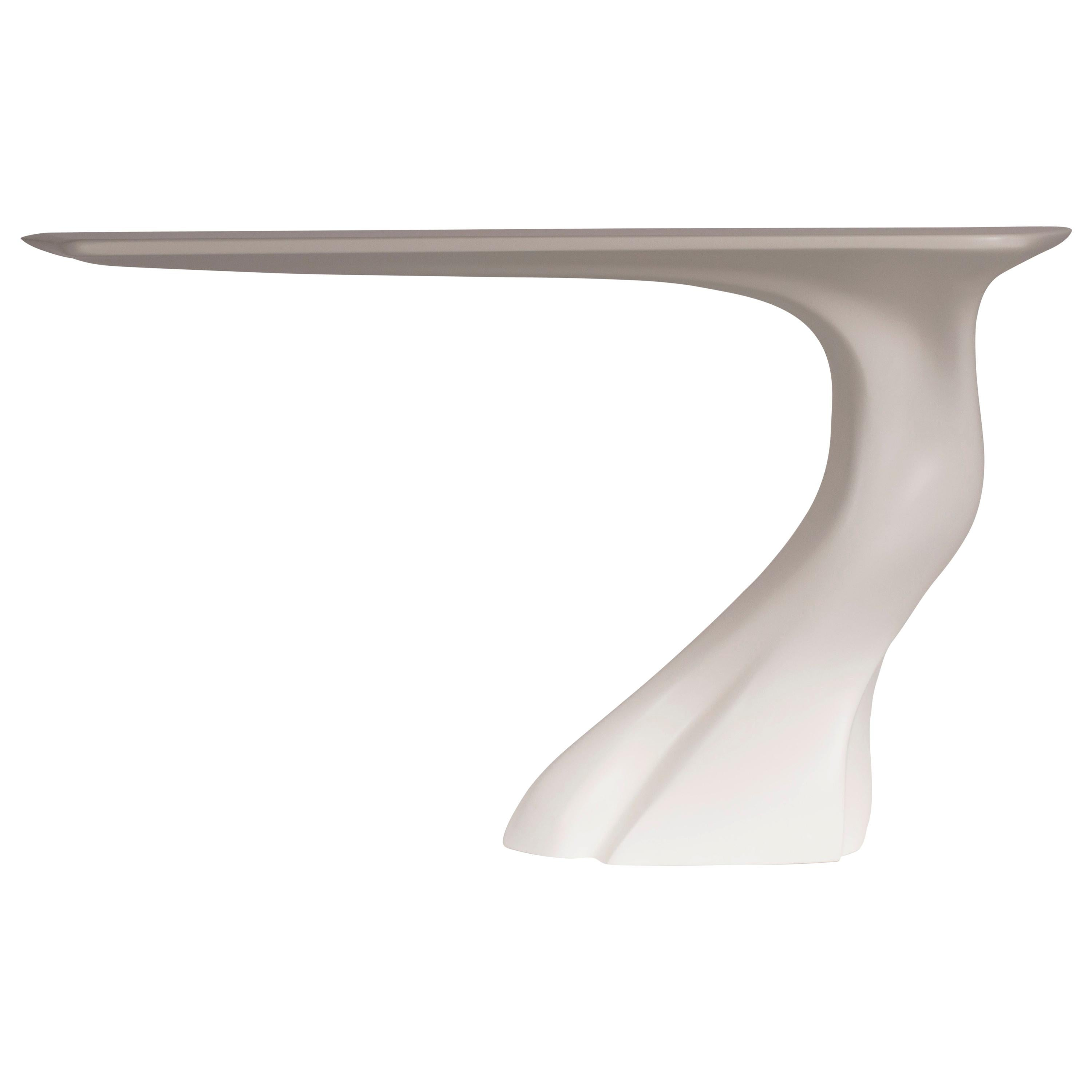 Amorph Frolic Console Table, Wall-Mounted, White Matte