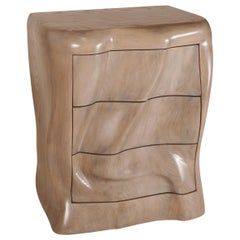 Amorph Hana Nightstand in Solid Ashwood with Gray Oak Finish