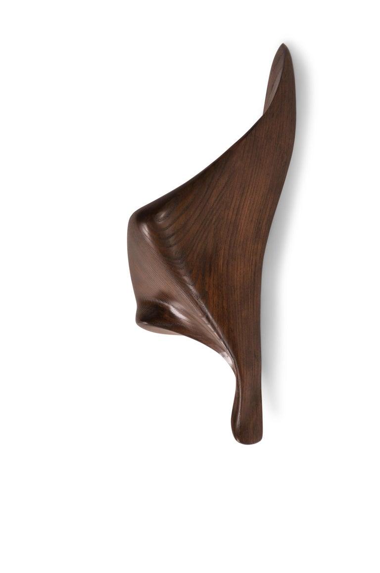 American Amorph Lustrous Sconces, Graphite Walnut Finish For Sale