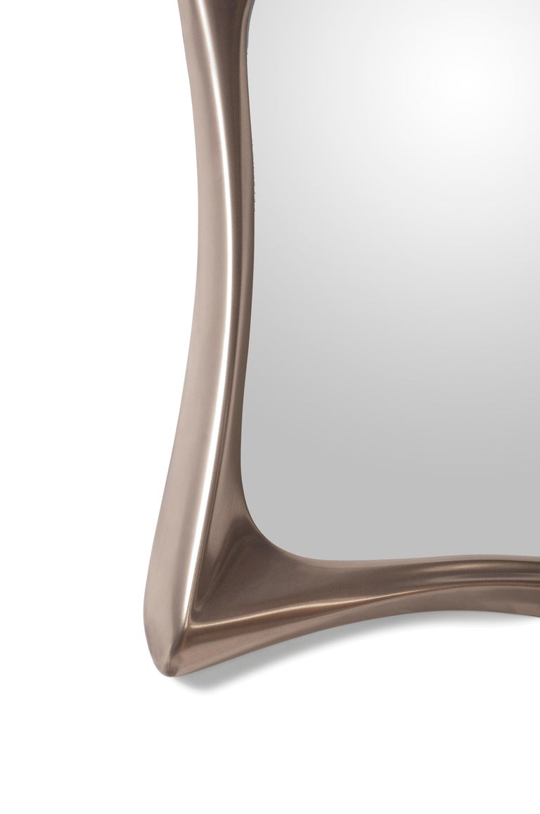 Amorph Narcissus Mirror, Metal Finish Nickel In New Condition For Sale In Gardena, CA