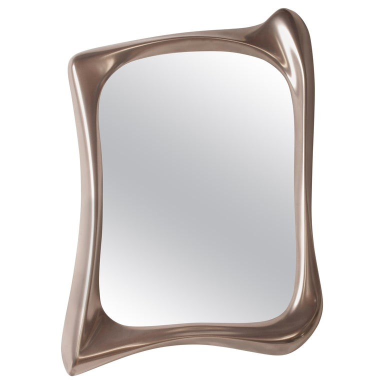 Amorph Narcissus Mirror, Metal Finish Nickel For Sale