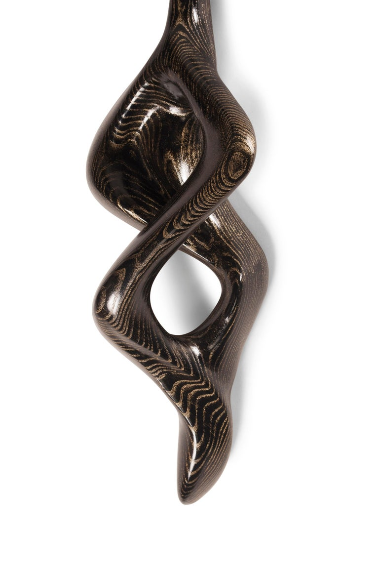 Amorph Nomi Sconces, Golden Ebony with Ivory Silk Shade 7