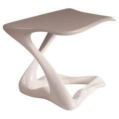 Amorph Tryst Side Table, White Lacquer Matte