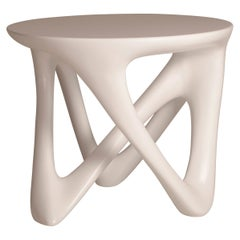Amorph Ya Side Table in White Lacquer Matte