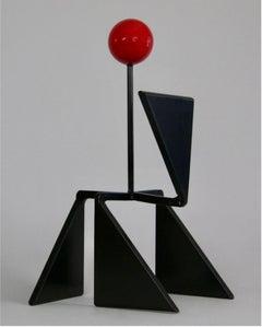 Red, Black, Circle, Balance, Outdoor, Indoor, Abstract, Original, Sculpture