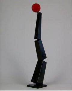 Circle, Red, Black, Steel, Balance, Outdoor, Indoor, Sculpture