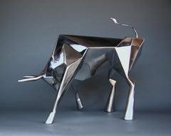Sculpture, Steel, Bull Market, Toro, Spirit Animal, Bull, Strength, Power