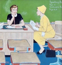 Parent- Teacher Conference, Saturday Evening Post Cover
