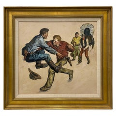 "Amos Sewell ""Prairie Schooner"" Original Saturday Evening Post Painting"